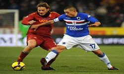 As Roma vs Sampdoria